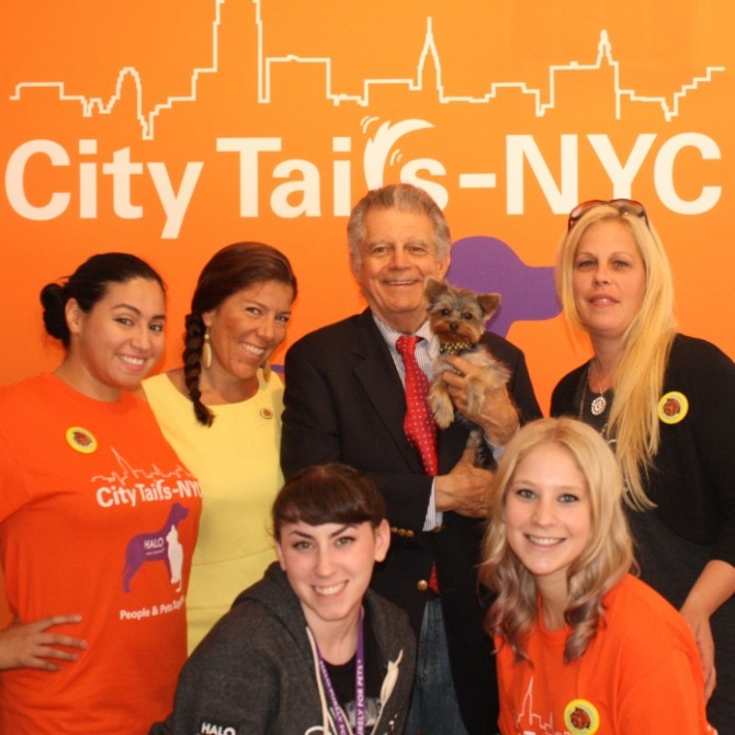 Meteorologist Ron and moi pop in to do good with Team City Tails - NYC.