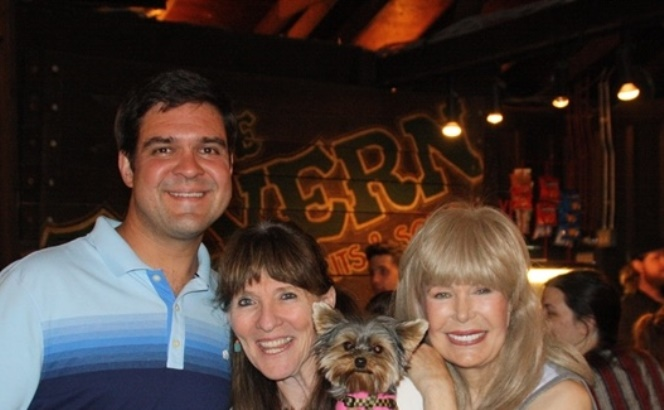 Making the hang with top dog, Franklin Trapp of the Forestburgh Playhouse, Auntie Mame herself, Loretta Swit, and Author Elly after the opening night show. Pawty!