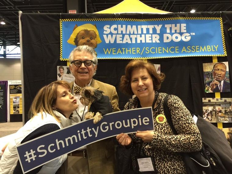 @cmscurrprincess is a science curriculum specialist from NC tweeted: We're a #SchmittyGroupie My new BFF #NSTA15