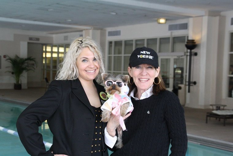"With PR top dog, Angela Braswell and author Elly. Can you say ""PooL Pawty!"""