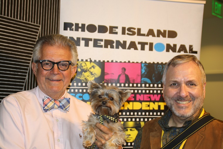 Posing with George T. Marshall, founder & top dog of the RI International Film Festival . . .  for 19 years. He's one amazing human. Bow Wow!