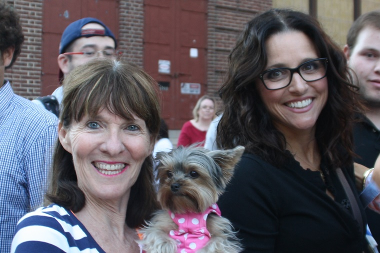 Julia Louis Dreyfus paws-es for a pic with Author Elly & moi at the screening of her new documentary at the RIIFF. #Cool