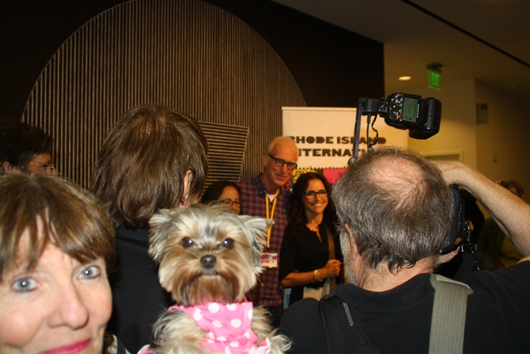 Full frontal photo bombing Julia and hubby, Brad after the screening at the RIIFF.