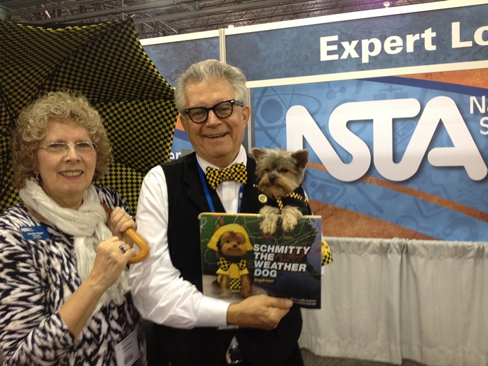 Hanging with the top dog of NSTA, President Carolyn Hayes.