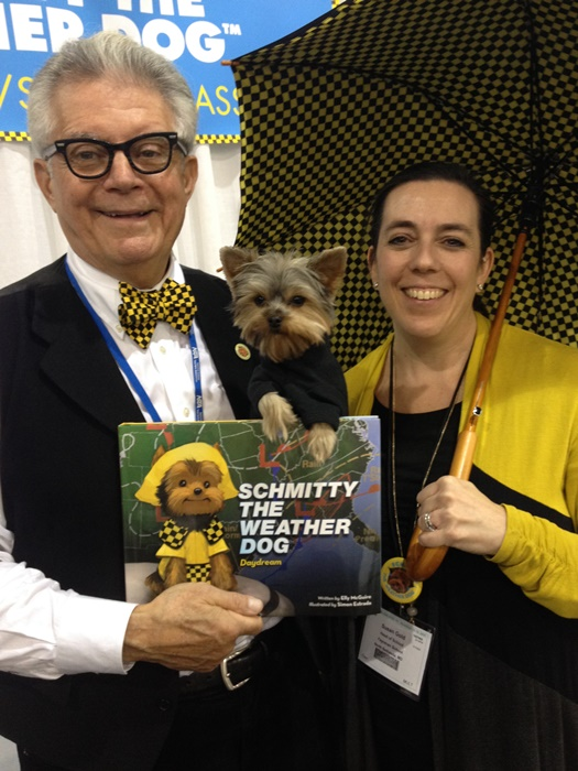 Susan Gold, top dog at the Feynman Independent School for Gifted Students comes color coordinated for our pic. Now that's one gifted educator! Arf-Arf!